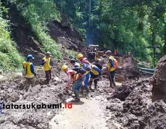 Kondisi Terkini Setelah 72 Jam Akses Jalan Geopark Ciletuh Terhambat Longsor