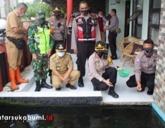 AKBP Sumarni Tinjau Lahan Kosong yang Disulap Jadi Kolam Budidaya Ikan Program Zona Ketahan Pangan Polres Sukabumi Kota