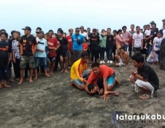 Wisatawan Asal Bandung Terseret Arus Pantai Selatan Palabuhanratu