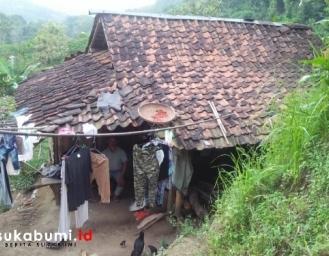 Potret Suram Keluarga Penghuni Gubuk Tua Pinggiran Hutan Jampangtengah Sukabumi