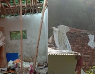 Atap Rumah Warga Sukabumi Nyaris Ambruk Keluarga Itu Terpaksa Tinggal di Dapur