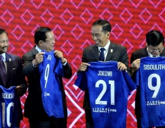 Jersey Biru Presiden Jokowi Nomor 21