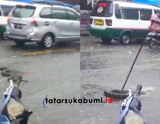 Bikin Heboh! Banjir di Cibadak Ular Sanca Keluar Dari Gorong-gorong