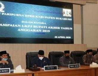 Rapat Paripurna DPRD Penyampaian LKPJ Tahun Anggaran 2019 Pemkab Sukabumi