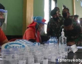 BNNK Sukabumi Lakukan Screening Narkoba dan P4GN Yon Armed 13 Nanggala Sukabumi