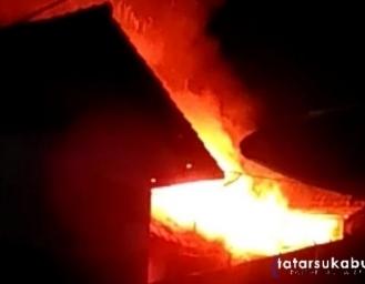 Breaking News! Kebakaran di Kawasan Padat Penduduk Pusat Kota Cibadak Sukabumi