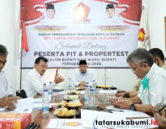 Bakal Calon Bupati Sukabumi Adjo Sardjono Jalani Fit and Propertest Partai Gerindra