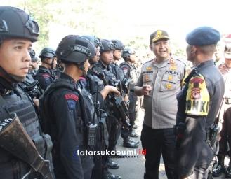 Gelar Pasukan Pengamanan Pilkades 240 Desa se-Kabupaten Sukabumi Polres Sukabumi Kota
