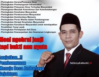 Hasan Mubarok Calon Incumbent Kades Ambarjaya Ciambar