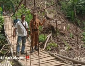 Kondisi Jembatan Gantung Ciangkrek Simpenan Sukabumi