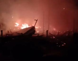 Rumah Warga Terbakar di Sirnarasa Cikakak Akibat Arus Pendek Arus Listrik Televisi